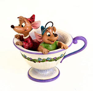 Image result for Disney Traditions General Collection Jaq & Gus in Teacup