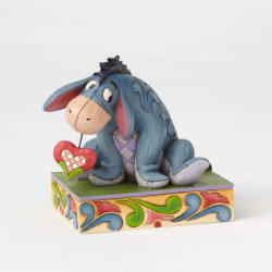 Jim Shore Disney Traditions - Eeyore Love Personality Pose - Heart on a String