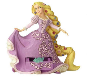 Jim Shore Disney Traditions - Rapunzel with Pascal Charm